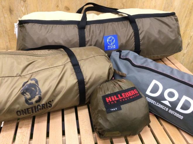 【テント・タープ買取】直近買取のテント、タープを一部ご紹介!DODやヒルバーグも!