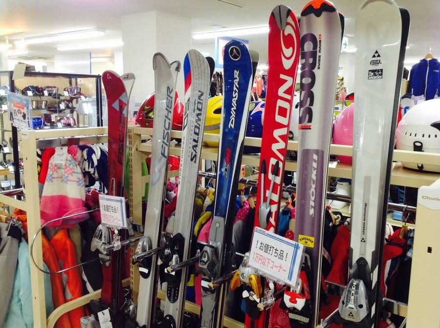 【TFスポーツ青葉台店】スキー・スノボ!1万円以下コーナー!【中古スキー・中古スノーボード】