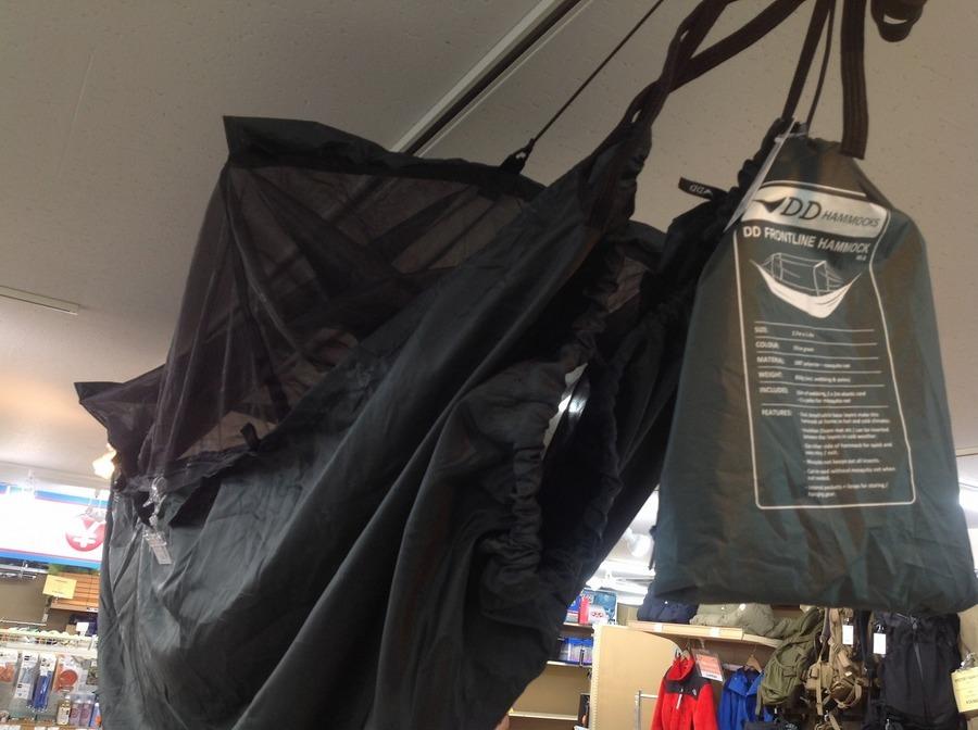 キャンプ用品のハンモック