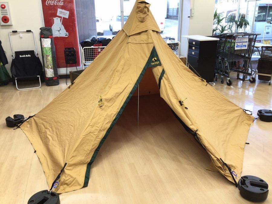 キャンプ用品のテンティピ
