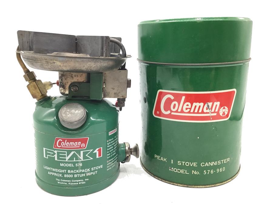 再入荷!希少なキャニスター缶付のColeman(コールマン) ガソリンシングルバーナー 576-976J(初期型)