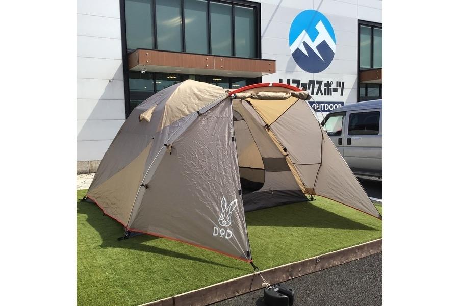 簡単設営なのに広々空間!DOD(ディーオーディー)のプレミアムワンタッチテントをご紹介!