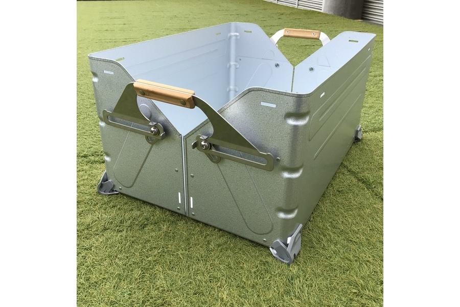 snow peak (スノーピーク)のシェルフコンテナ50が2個入荷!家では収納箱、外では棚に変形できる優れもの!