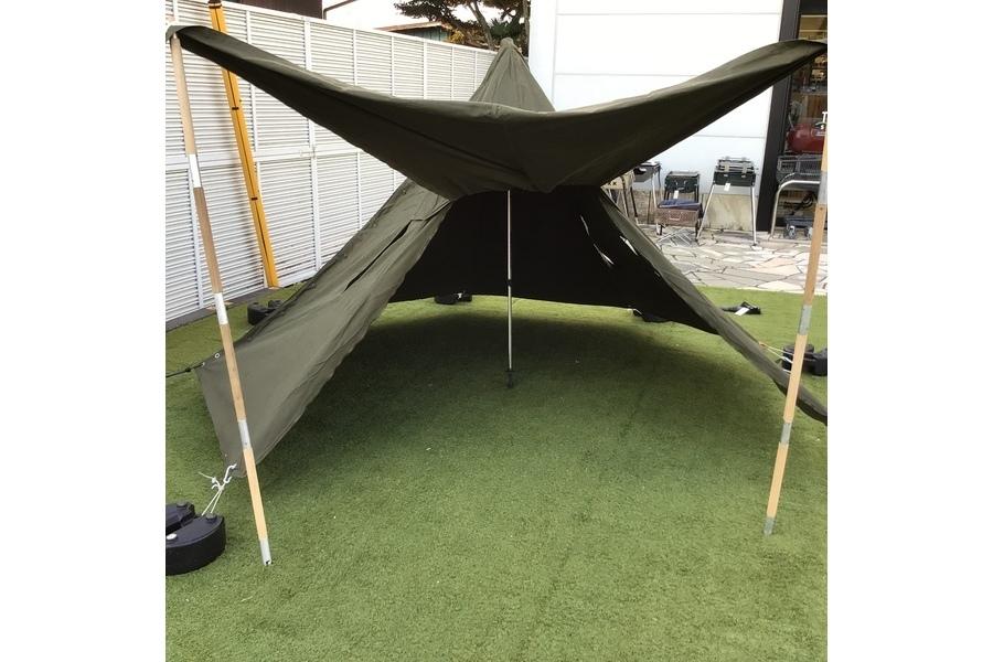 ポーランド軍ジップ加工テントが入荷!ジップ加工により出入りしやすく改良され使い勝手抜群!