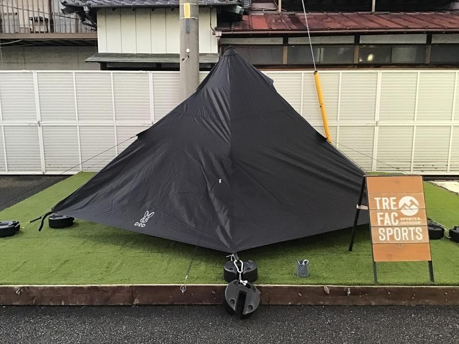 テントのモノポールテント