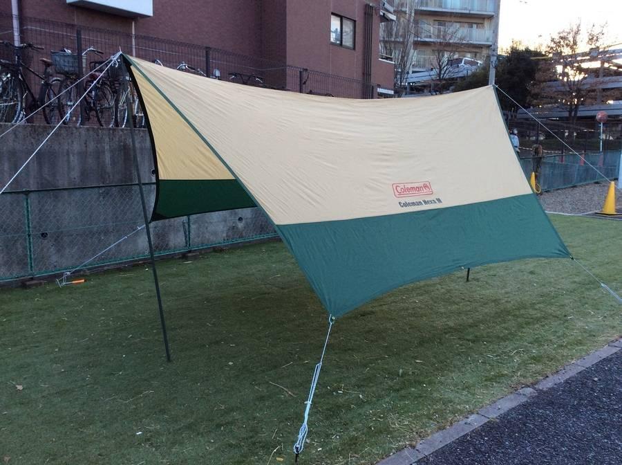 【TFスポーツ柏】意外と簡単!ヘキサタープの設営手順!【中古キャンプ】
