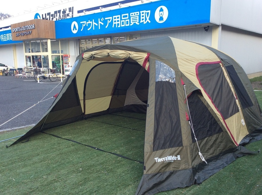 【スポーツ柏】OGAWA ツールームテント ティエラワイド2 設営!