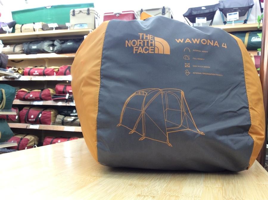 ノースフェイスの4人用テントのワオナ4入荷しました。