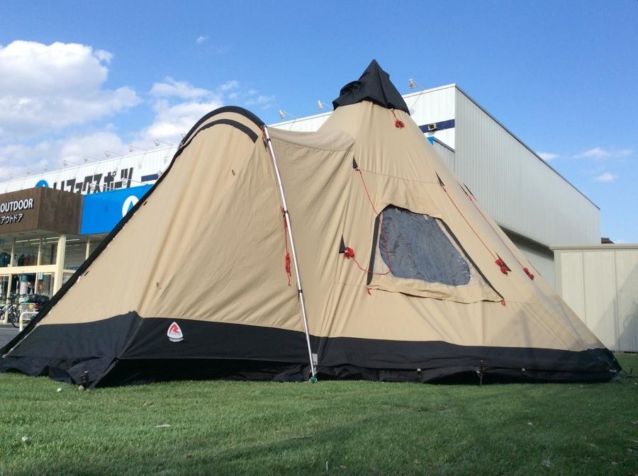 巨大モノポールテント!ローベンスのカイオワ設営してみた。