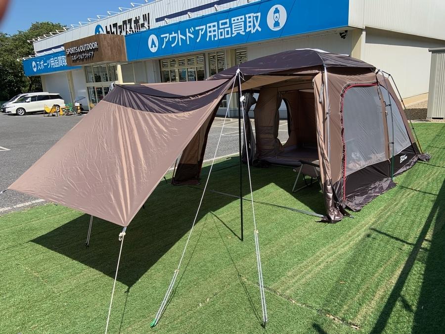 タープいらずの広々2ルームテント!テントファクトリーのアオバ450設営してみた!