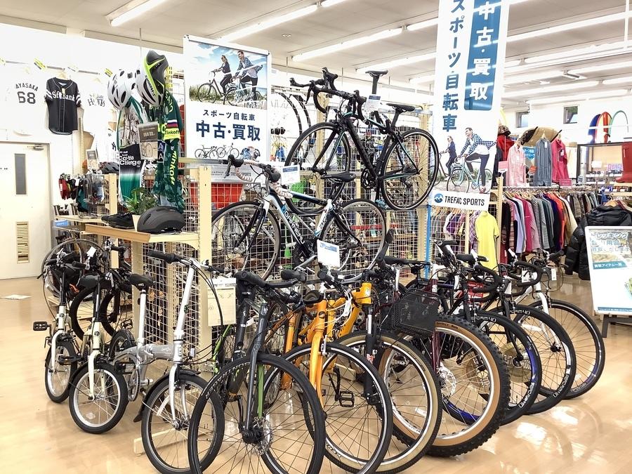 自転車売場拡張しました!自転車の買取はトレファクスポーツ柏店へ!