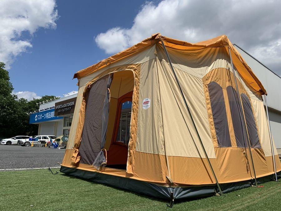 お城のような個性派オレンジテント!コールマンのビラデルマーリバイバル設営してみた!!