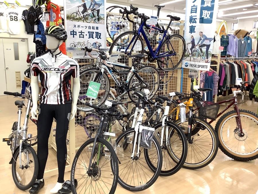 自転車・自転車用品の買取はトレファクスポーツ柏店へ!