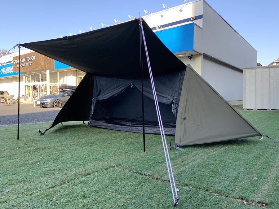 テントのソロキャンプ