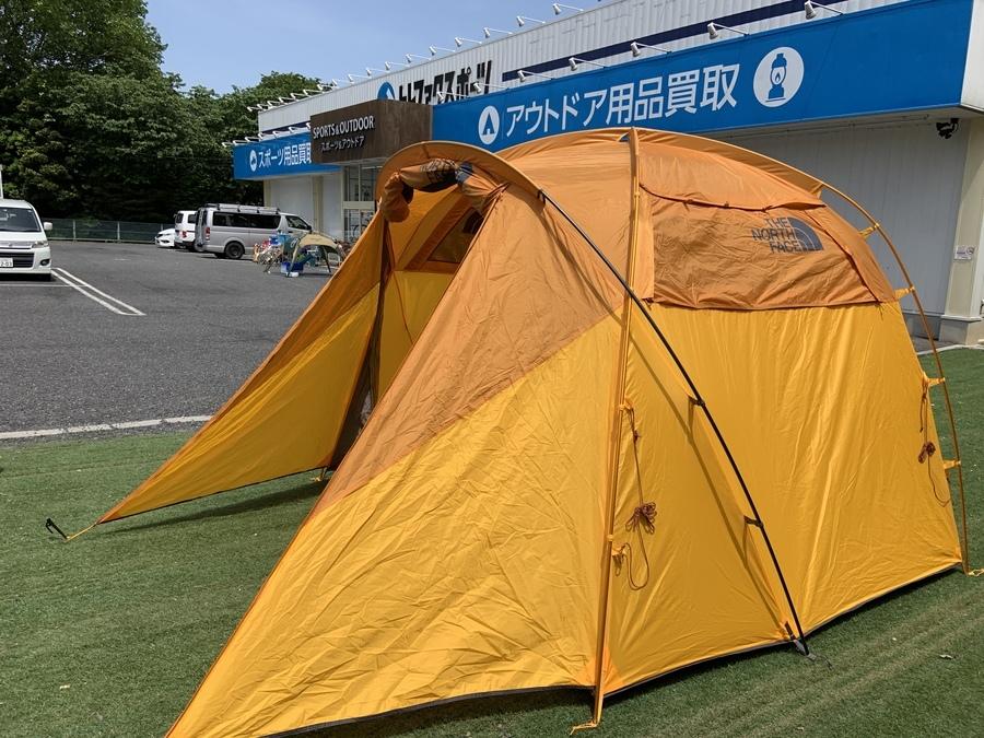キャンプ用品のノースフェイス