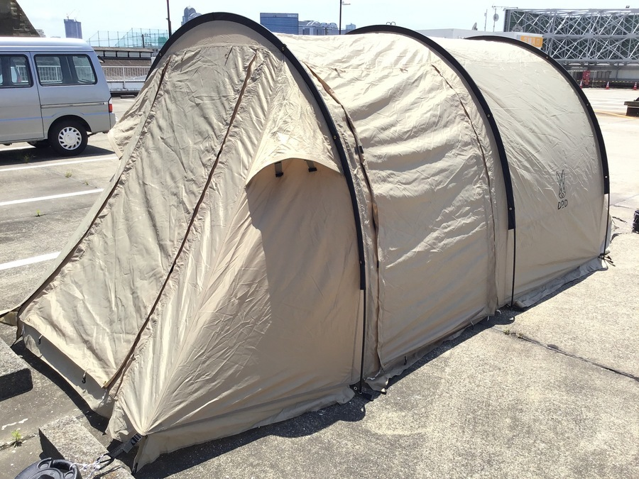 【カマボコテントミニ】初心者でも簡単設営!DODカマボコ型テント入荷!