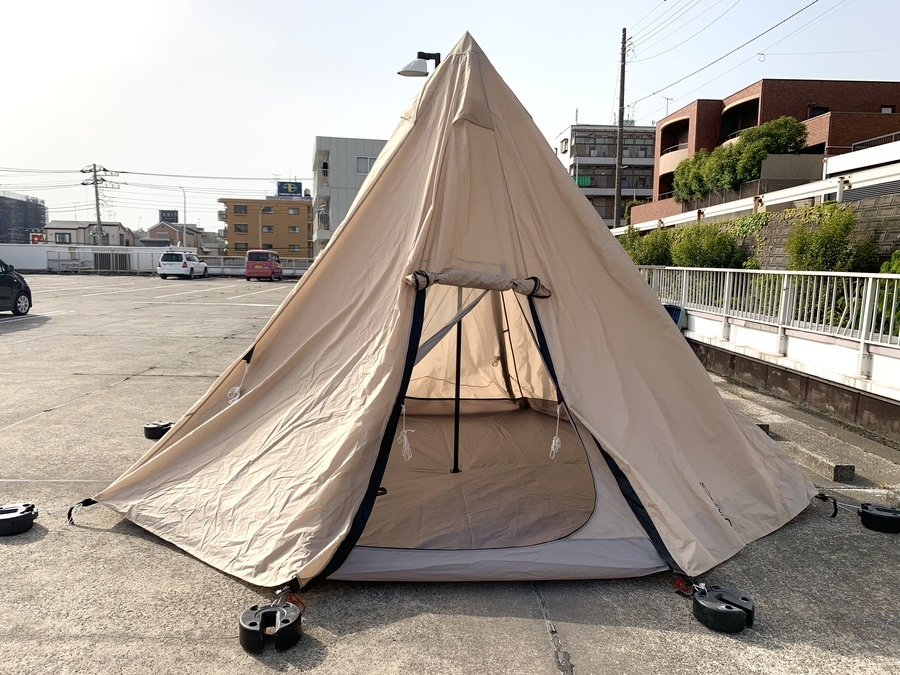 【スマホで購入OK】ファミリーキャンプにもおすすめ! DOD ワンポールテント L 入荷しました♪ 定番タンカラー!