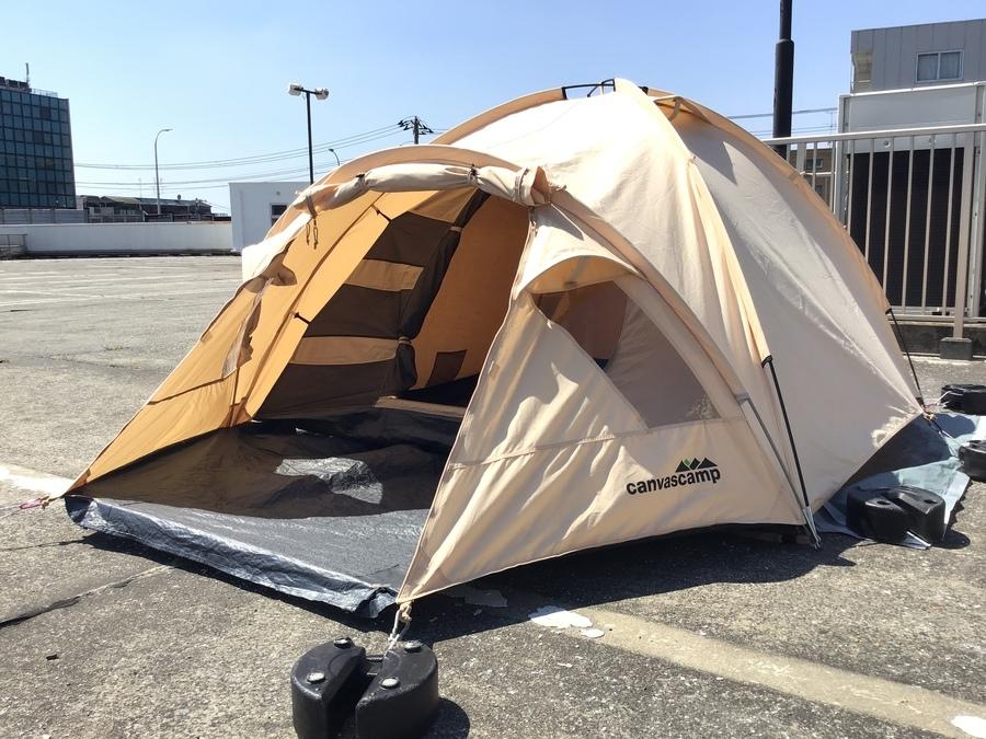 CANVASCAMP(キャンバスキャンプ)のポリコットン製のドームテント入荷!