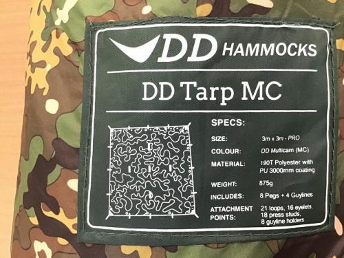 キャンプ用品のDDタープ