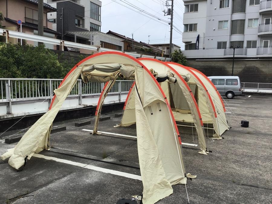 カマボコテントの幕張 キャンプ