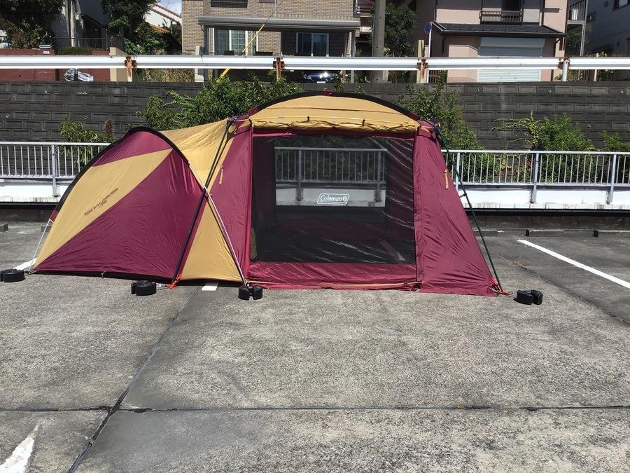 ツールームテントの幕張 キャンプ用品