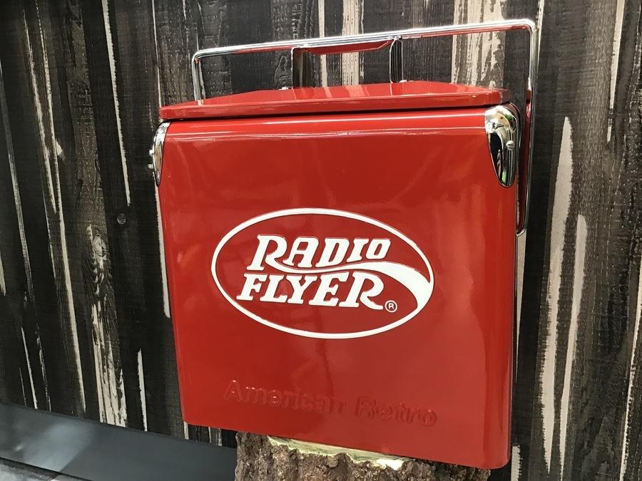 キャンプ用品のラジオフライヤー