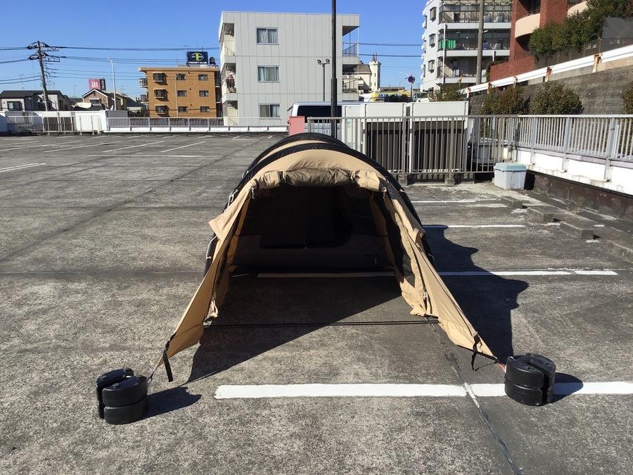 カマボコテントソロTCの幕張 テント