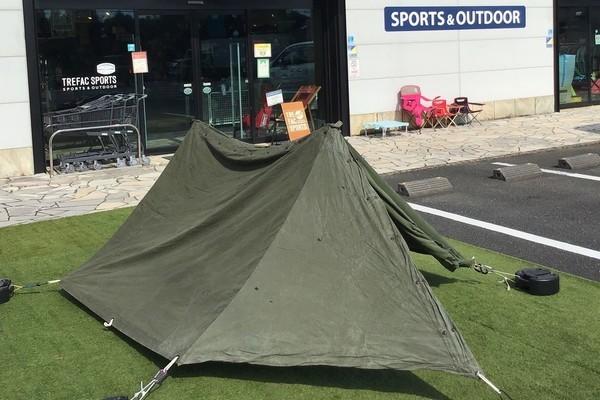 ミリタリーのソロキャンプ