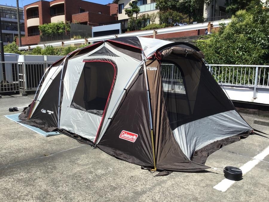 2ルームテントの船橋 キャンプ用品