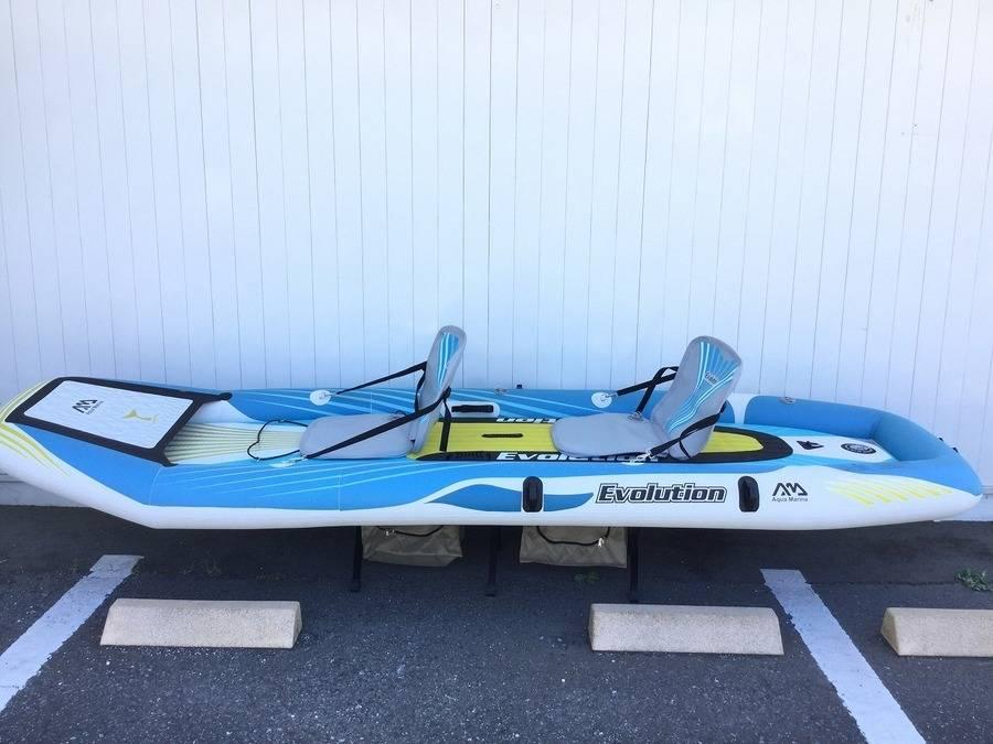 【TFスポーツ岩槻店】カヤックもSUPも両方楽しめる!Aqua Marina(アクアマリーナ)の2in1インフレータブルセット(EV-340)