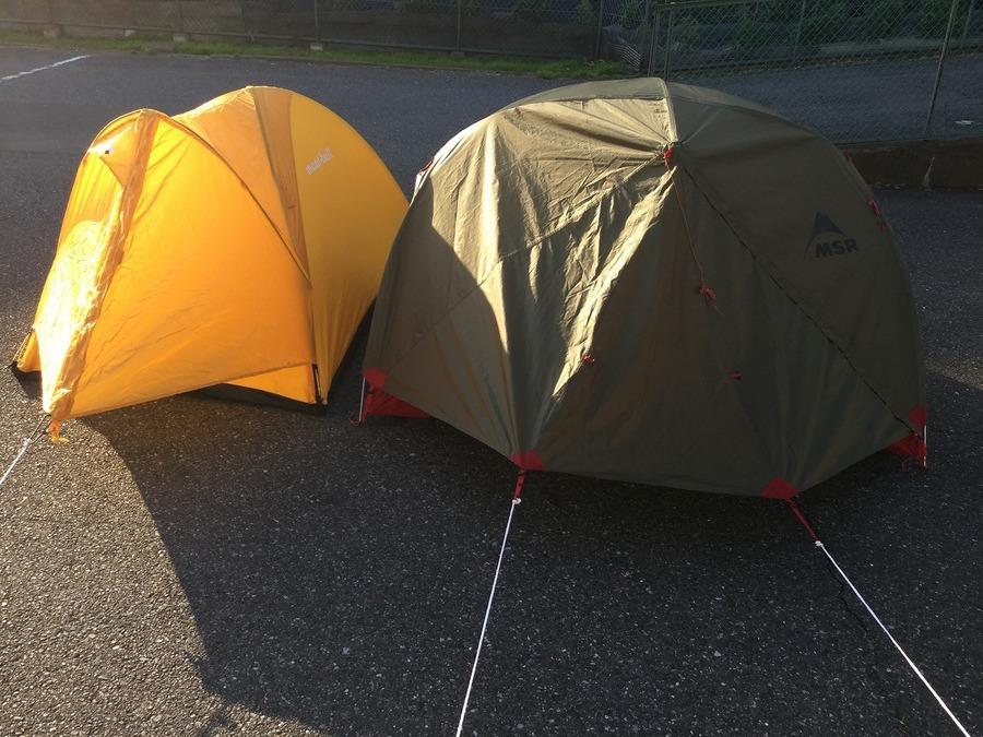 山岳テント続々入荷!MSR(エムエスアール)エリクサー2ヨーロッパモデル・mont-bell(モンベル)マイティドーム