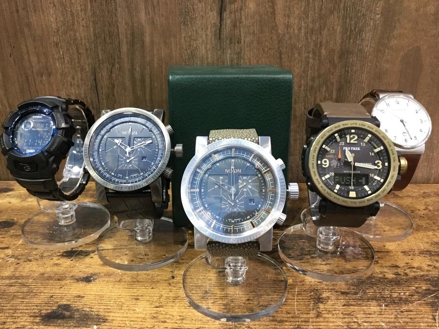 【腕時計買取】カシオやニクソンなど最新在庫情報のご案内!