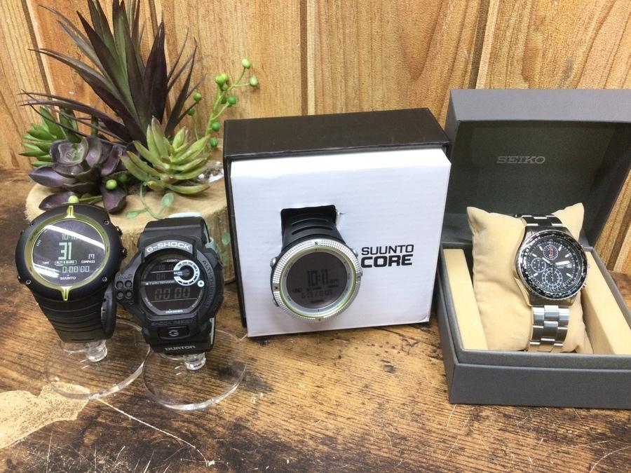 【腕時計買取】スントやセイコーなどアウトドアウォッチお売りください!