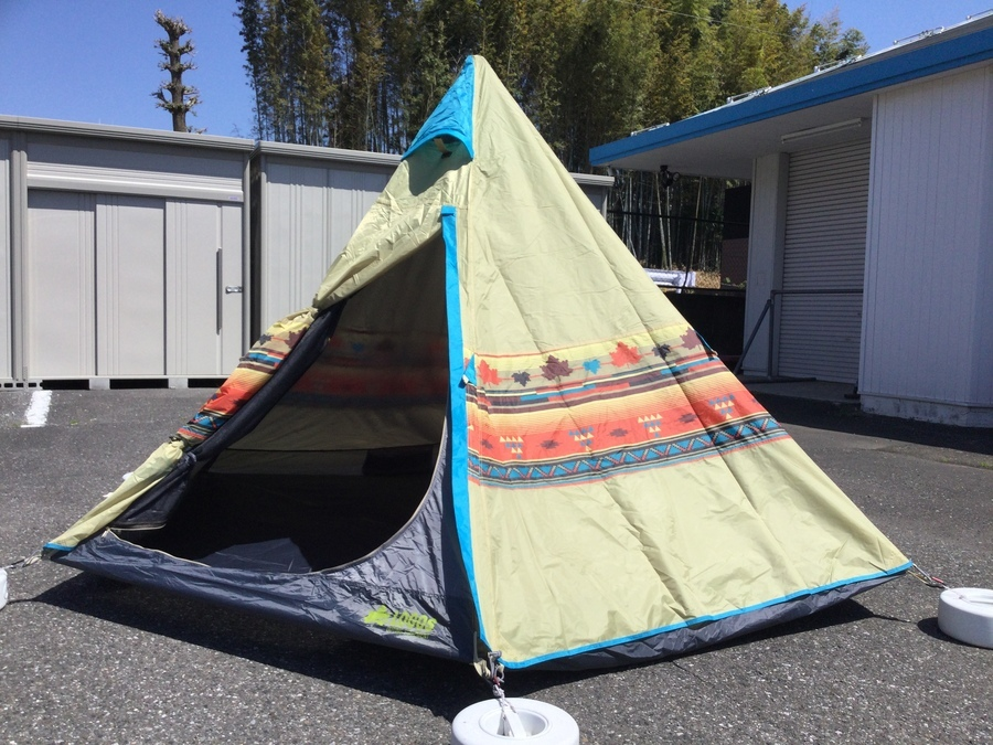【ロゴス買取】ナバホ Tepee300設営してみた。