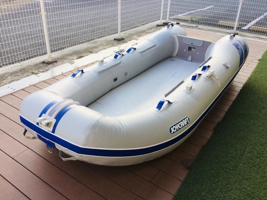 【ゴムボート買取】今年の夏はウォーターアクティビティを始めよう!ジョイクラフトのエンジン付きゴムボートが入荷しました!